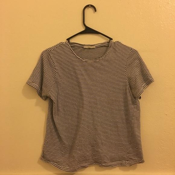 9b67f021a0 Zara Tops | Trafaluc White And Black Striped T Shirt | Poshmark